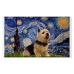 Starry /Norwich Terrier Sticker (Rectangle)