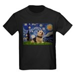 Starry /Norwich Terrier Kids Dark T-Shirt