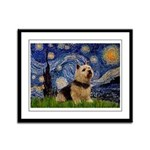 Starry /Norwich Terrier Framed Panel Print