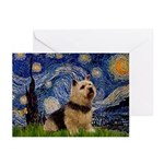 Starry /Norwich Terrier Greeting Cards (Pk of 10)