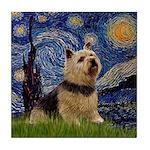 Starry /Norwich Terrier Tile Coaster