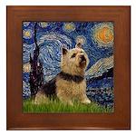 Starry /Norwich Terrier Framed Tile
