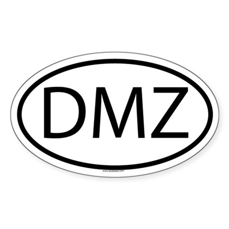 DMZ Oval Sticker