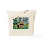 Bridge / Norwich Terrier Tote Bag