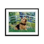 Bridge / Norwich Terrier Framed Panel Print