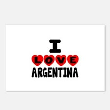 I Love Argentina Postcards (Package of 8)