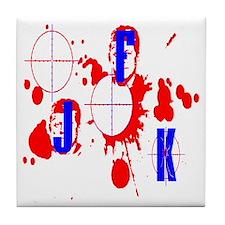 JFK assassination Tile Coaster