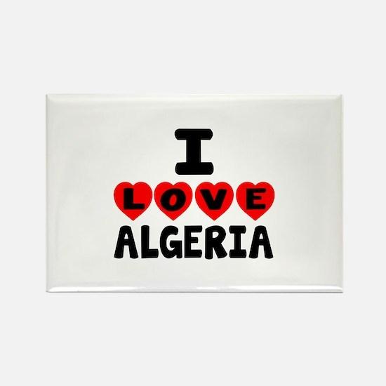 I Love Algeria Rectangle Magnet
