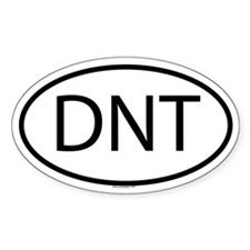 DNT Oval Decal