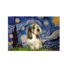 Starry Night / PBGV Rectangle Magnet