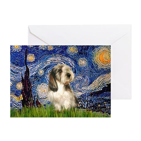 Starry Night / PBGV Greeting Cards (Pk of 20)