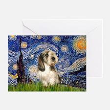 Starry Night / PBGV Greeting Cards (Pk of 20)