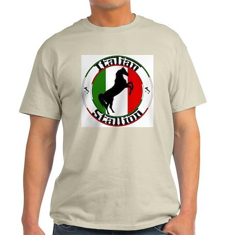 Classic Italian Stallion Natural Color T-Shirt