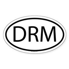 DRM Oval Decal