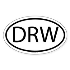 DRW Oval Decal