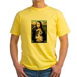 Mona Lisa / PBGV Yellow T-Shirt