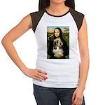 Mona Lisa / PBGV Women's Cap Sleeve T-Shirt