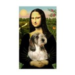 Mona Lisa / PBGV Sticker (Rectangle)