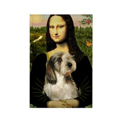 Mona Lisa / PBGV Rectangle Magnet (10 pack)