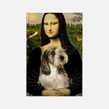 Mona Lisa / PBGV Rectangle Magnet