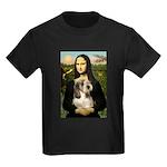 Mona Lisa / PBGV Kids Dark T-Shirt