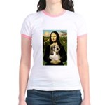 Mona Lisa / PBGV Jr. Ringer T-Shirt