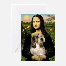 Mona Lisa / PBGV Greeting Cards (Pk of 20)