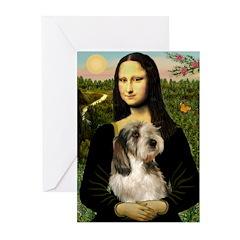 Mona Lisa / PBGV Greeting Cards (Pk of 10)
