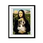 Mona Lisa / PBGV Framed Panel Print