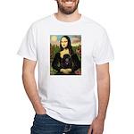 Mona / Poodle (bl) White T-Shirt