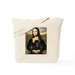 Mona / Poodle (bl) Tote Bag