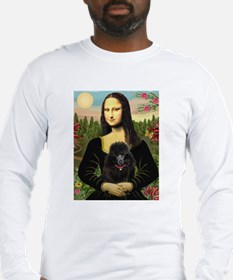 Mona / Poodle (bl) Long Sleeve T-Shirt