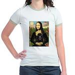 Mona / Poodle (bl) Jr. Ringer T-Shirt