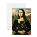 Mona / Poodle (bl) Greeting Card