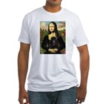 Mona / Poodle (bl) Fitted T-Shirt