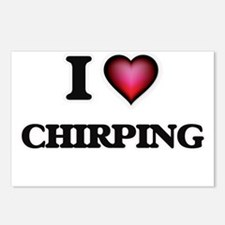 I love Chirping Postcards (Package of 8)
