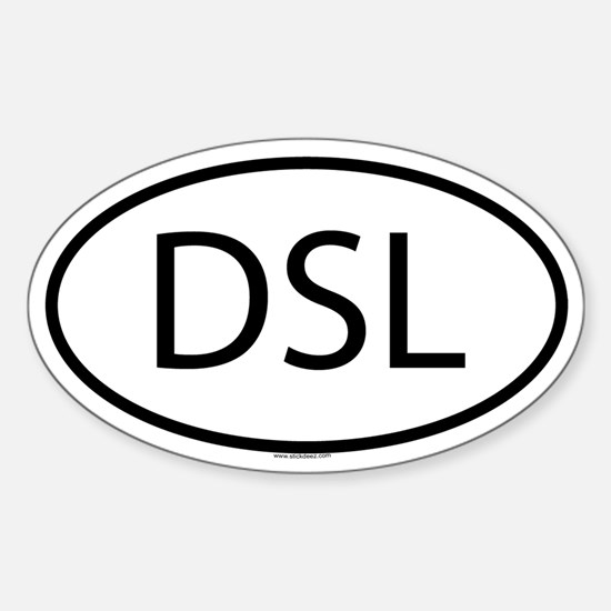 DSL Oval Decal