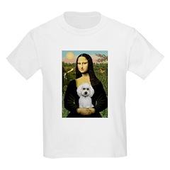 Mona Lisa / Poodle(w) Kids Light T-Shirt