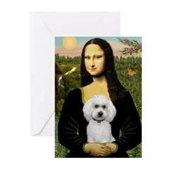Mona Lisa / Poodle(w) Greeting Cards (Pk of 10)