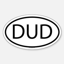 DUD Oval Decal