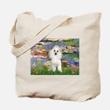 Lilies /Poodle (w) Tote Bag