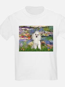 Lilies /Poodle (w) T-Shirt