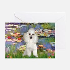 Lilies /Poodle (w) Greeting Cards (Pk of 20)
