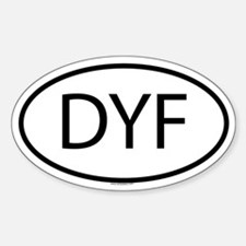 DYF Oval Decal