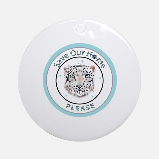 Cute Save the world Round Ornament