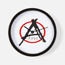 Punk Anarchy 1977 Wall Clock