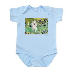 Irises / Poodle (w) Infant Bodysuit