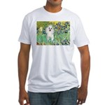 Irises / Poodle (w) Fitted T-Shirt