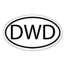 DWD Oval Decal