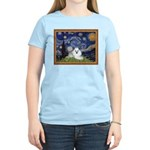 Starry Night / Poodle(w) Women's Light T-Shirt